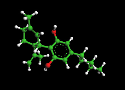 the cannabidiol cbd molecule from cannabis